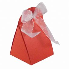Red Round Top Designer Favour Boxes